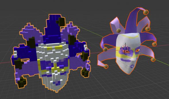 Mask model/voxel model