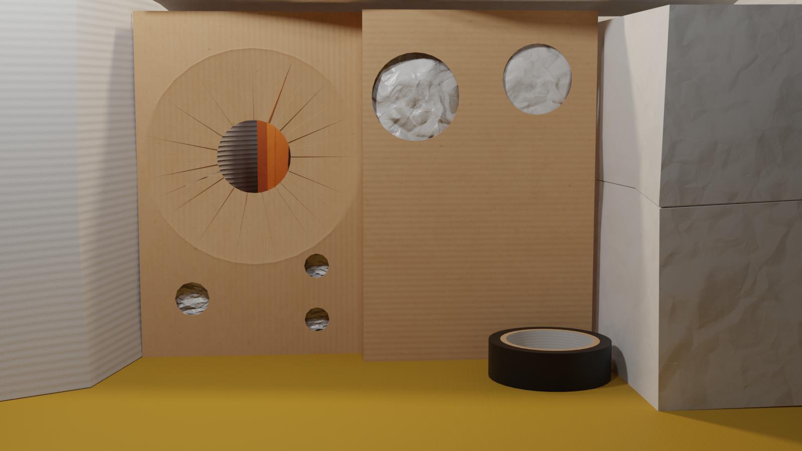 Cardboard TV set 1
