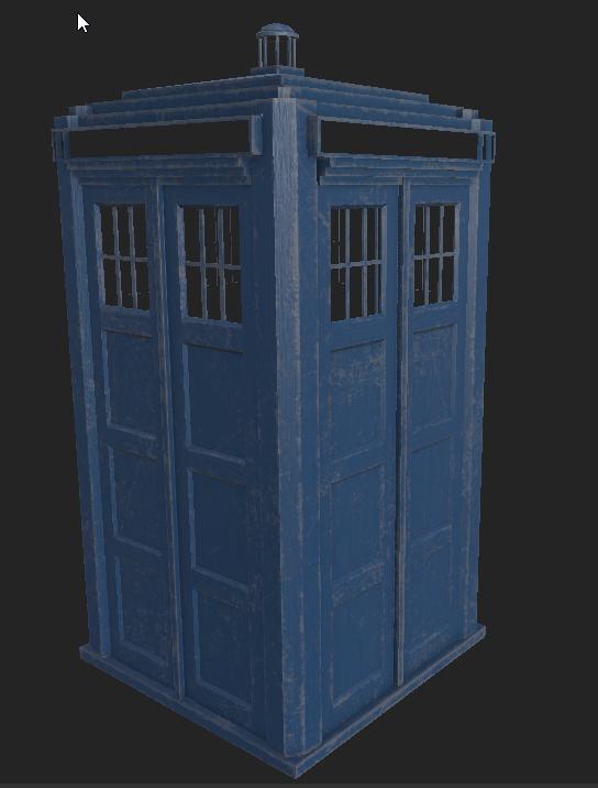 TARDIS police box wood (abandoned WIP)