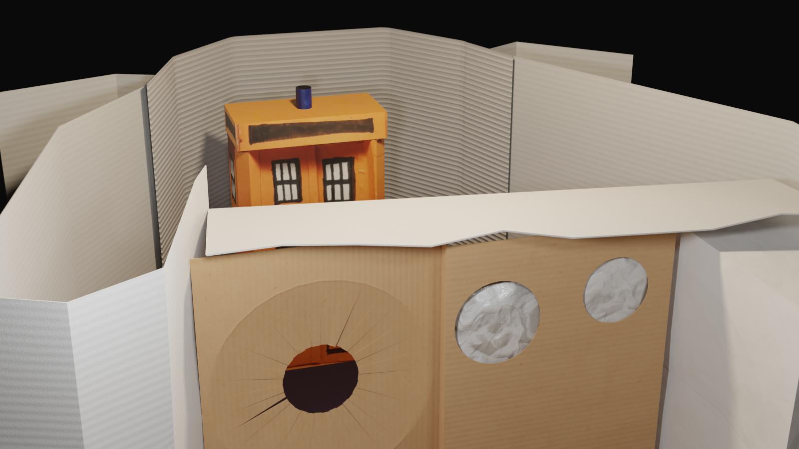 Cardboard TV set 2