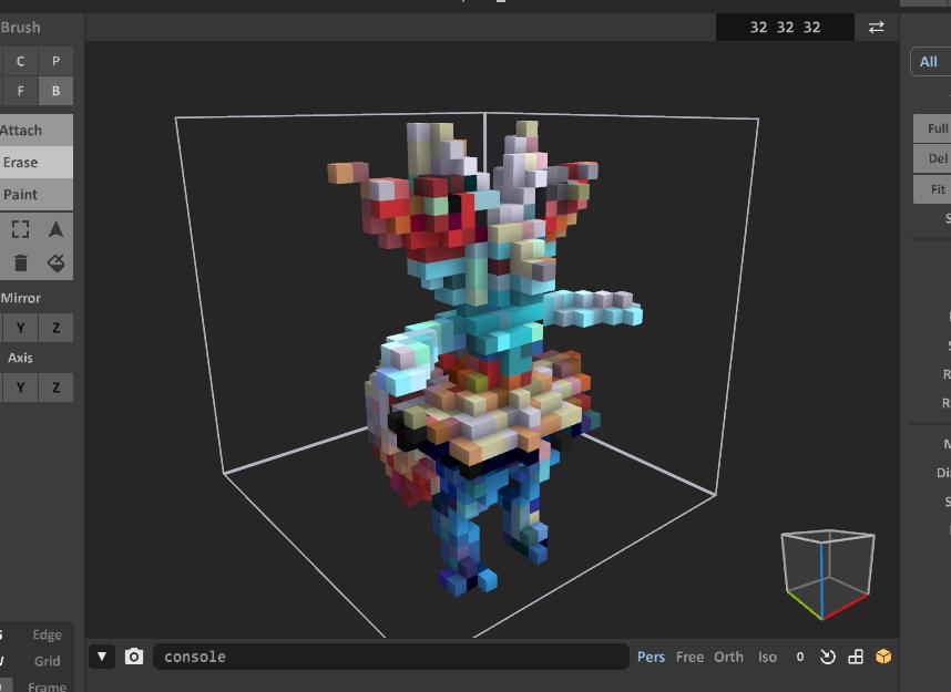 Braixen voxel model