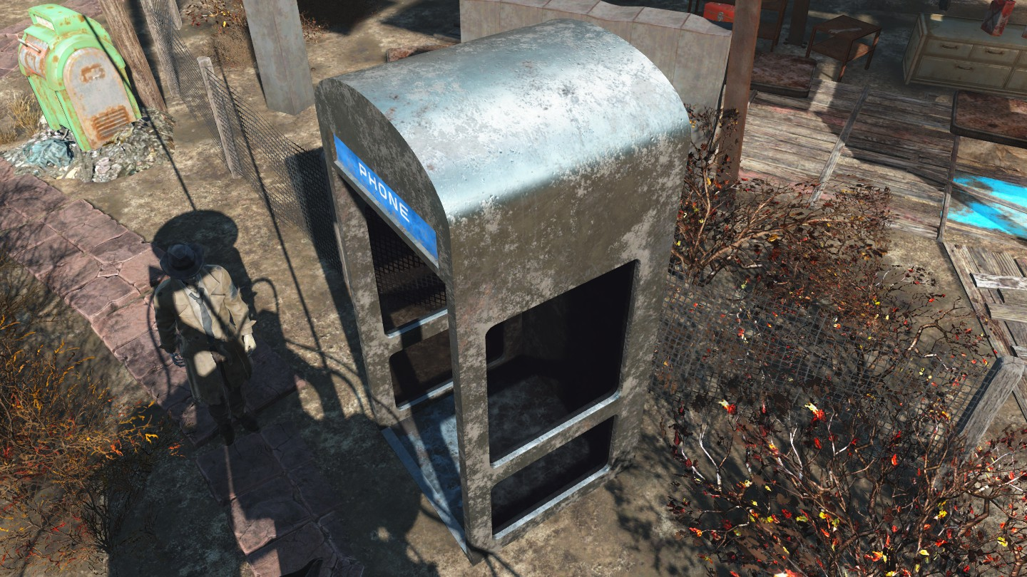 Fallout 4 - WIP phone booth